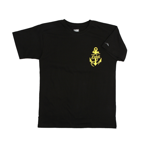 [라카이] 반팔티 Anchor logo Tee (BLACK) - LAST001BK