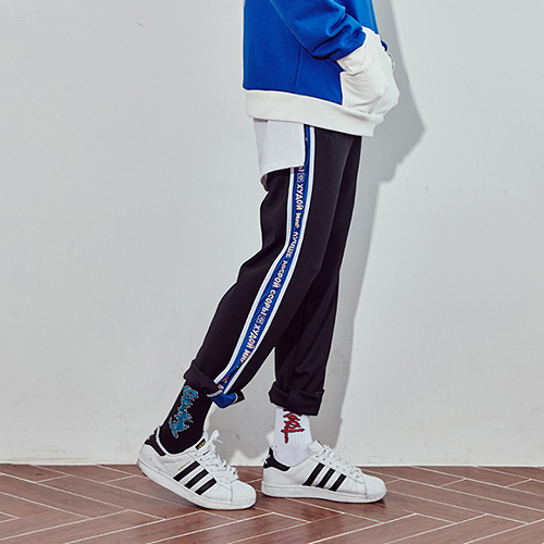 [10%쿠폰] 긴바지 트랙팬츠 crump represent track pants (CP0011)- black_blue