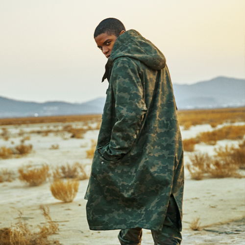 OVER HOOD LONG JACKET (CAMO)