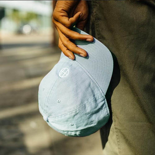 [10%할인+10%쿠폰] CIRCLE H CURVE VISOR 6 PANEL (LIGHT BLUE) - HFA17HT00018LBL [허프 HUF 볼캡]