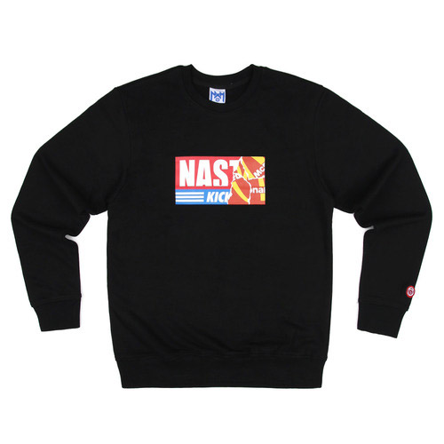 네스티팜 스웨트셔츠 NASTY KICK BIG SWEATSHIRTS (BLACK) - NASTY16FW012