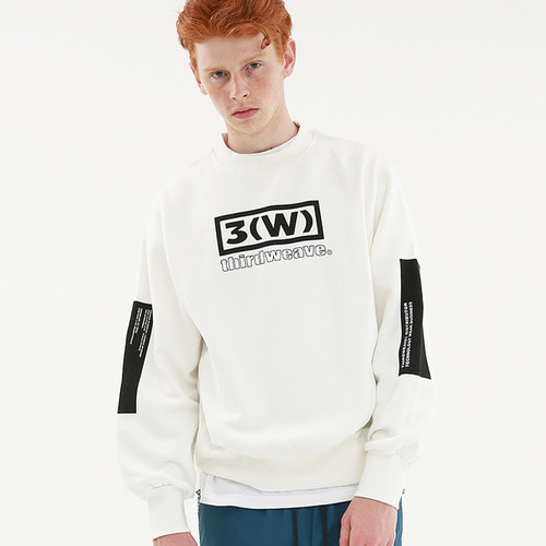 [써드위브] SQUARE CREW NECK SWEAT / OFF WHITE_3RDW17FW25