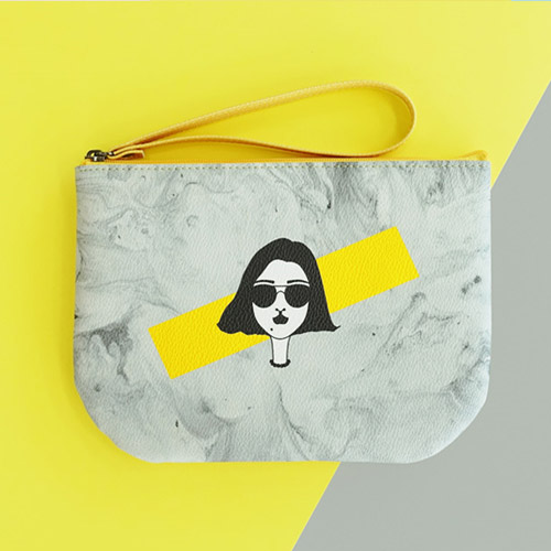 [땅별메들리] HALF MOON POUCH YELLOW - DD15HP004 [파우치]