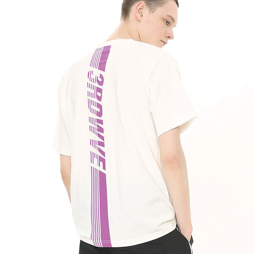 [써드위브 20%할인] CREASE ROUND T-SHIRT / WHITE