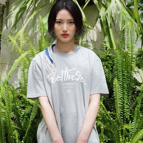 [Lebenea] Feel The Sea T-shirt_gray