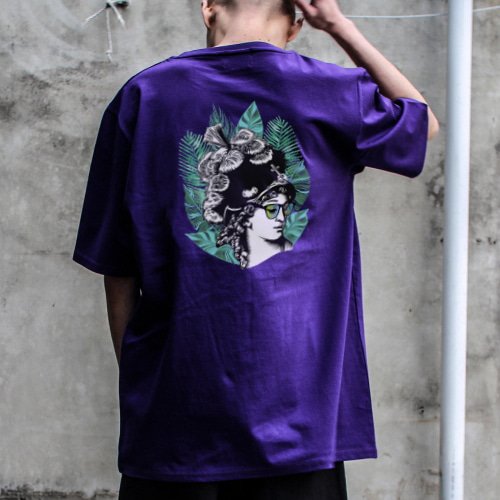 [디콤파스] HIPSTER OVERFIT T-SHIRT(PURPLE)