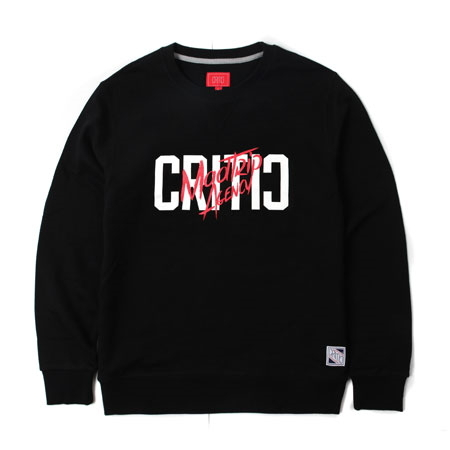 크리틱 스웻셔츠 맨투맨 MADTRIP AGENCY CREWNEC (BLACK) - CTOIPCR05UBK
