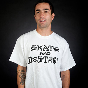 반팔티 SKATE AND DESTROY (WHITE) - THR_16SS008