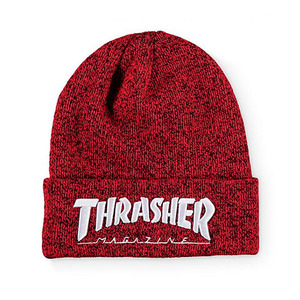 EMBROIDERED LOGO BEANIE (RED) - THR_HW015