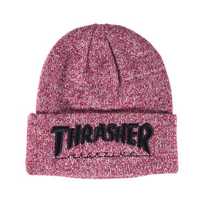 EMBROIDERED LOGO BEANIE (MAROON) - THR_HW014
