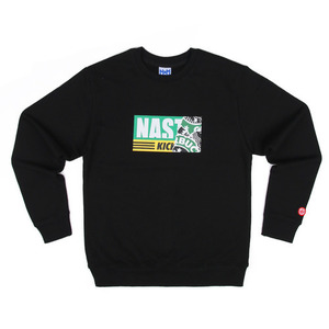 네스티팜 스웨트셔츠 NASTY KICK SIREN SWEATSHIRTS (BLACK) - NASTY16FW011