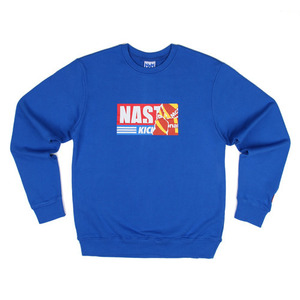 네스티팜 스웨트셔츠 NASTY KICK BIG SWEATSHIRTS (BLUE) - NASTY16FW013