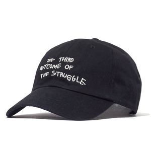 볼캡 [30%할인] STRUGGLE COTTON CAP (BLACK)