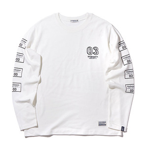 긴팔티 [30%할인] SQUARE LOGO TEE L/S (OFF WHITE)