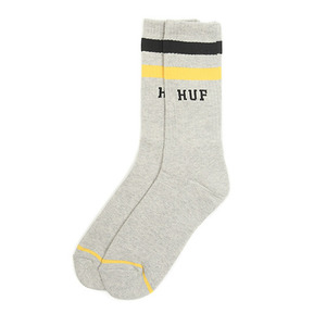 [10%할인+10%쿠폰] 2 STRIPE CREW SOCK (GREY HEATHER) - HFSK53017GH [허프 HUF 양말]
