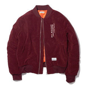 [15%할인+20%쿠폰] E.I.G VELOUR MA-1 JACKET / BURGUNDY