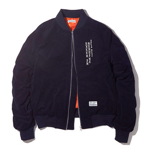 벨벳자켓 [15%할인] E.I.G VELOUR MA-1 JACKET / DARK NAVY