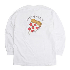 [빅스텝 단독] 켈란 긴팔티 PIZZA LONG SLEEVE TEE (WHITE) - KEL16FW013
