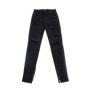 [10%할인+15%쿠폰] DESTROYED ZIP BLACK DENIM JEANS 데님 진