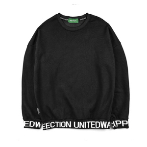 [Unitedwappen] Line up Oversize Sweatshirts (Black)