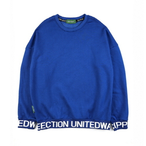 스웨트셔츠 [Unitedwappen] Line up Oversize Sweatshirts (Blue)