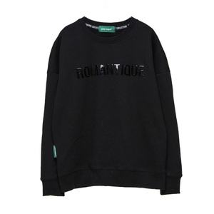 스웨트셔츠 [Unitedwappen] EMBRO oversized sweatshirts (Black)