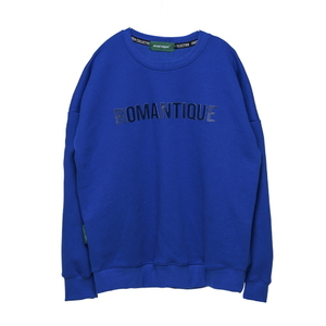 스웨트셔츠 [Unitedwappen] EMBRO oversized sweatshirts (Blue)