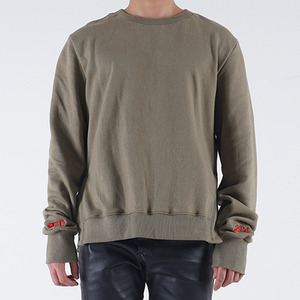 롱 스웨트 셔츠 LONG SLEEVE SWEATSHIRT (KHAKI)