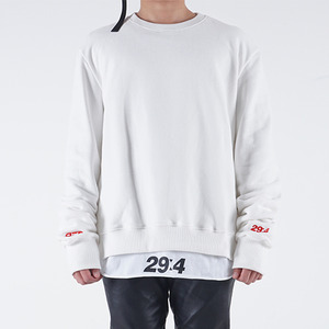 롱 스웨트 셔츠 LONG SLEEVE SWEATSHIRT (WHITE)