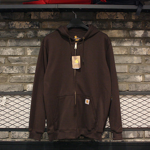 [15%할인+20%쿠폰] 칼하트 후드집업 Carhartt Midweight Zip Front Hooded Sweatshirt (DARK BROWN) - CHTK122DB