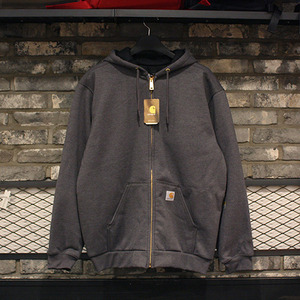 [15%할인+20%쿠폰] 칼하트 후드집업 Carhartt Thermal Lined Zip Front Hooded Sweatshirt (CHARCOAL HEATHER) - CHT100632CH