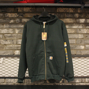 [15%할인+20%쿠폰] 칼하트 후드집업 Carhartt Thermal Lined Zip Front Hooded Sweatshirt (CANOPY GREEN) - CHT100632CG