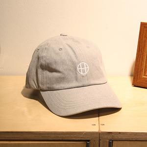 [10%할인+10%쿠폰] CIRCLE H CURVE VISOR 6 PANEL (GREY HEATHER) - HFA17HT00018GY