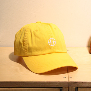 [10%할인+10%쿠폰] CIRCLE H CURVE VISOR 6 PANEL (LIGHT YELLOW) - HFA17HT00018LYL