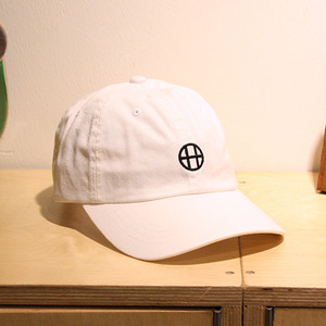 [10%할인+10%쿠폰] CIRCLE H CURVE VISOR 6 PANEL (WHITE) - HFA17HT00018WH
