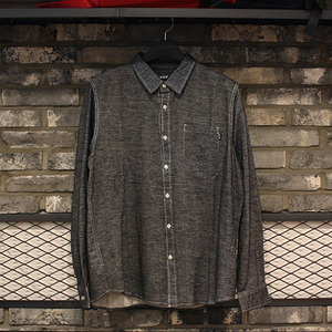 [허프] COURSE L/S CHAMBRAY SHIRT (BLACK) - HFA17BU00001BK [허프 HUF 셔츠/긴팔티]