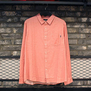 [10%쿠폰] COURSE L/S CHAMBRAY SHIRT (PINK) - HFA17BU00001PK