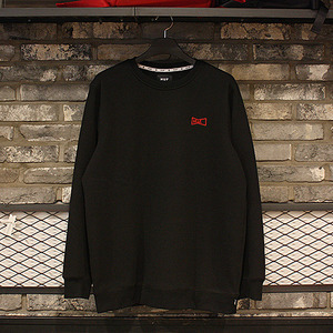 [10%쿠폰] DRINK UP CREW (BLACK) - HFA17PF00007BK [허프 HUF 맨투맨]