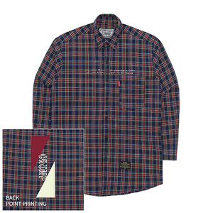 [10%쿠폰] Crump over fit artwork check shirt no.6 (CS0006)