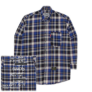 [10%쿠폰] Crump over fit artwork check shirt no.3 (CS0003)