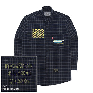 [10%쿠폰] Crump over fit artwork check shirt no.2 (CS0002)