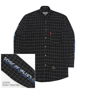 [10%쿠폰] Crump over fit artwork check shirt no.1 (CS0001)