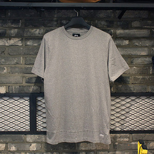스투시 반팔티 [밑단자수] ORIGINAL STOCK TEE (GREY HEATHER) - ST114749GH