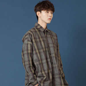 [20%쿠폰] SIESTA POCKET CHECK SHIRT JACKET [GREY]