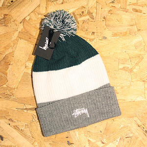 3-TONE HEAVY POM BEANIE (GREY HEATHER) - ST132709GY