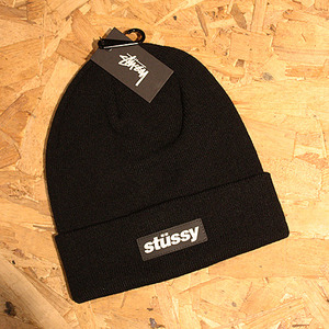 STUSSY RUBBER PATCH BEANIE (BLACK) - ST132717BK
