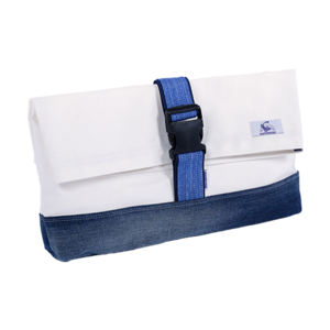[20%쿠폰] 데님 클러치 Vintage Denim Clutch (White) - EIBAG007
