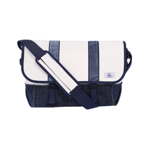 [20%쿠폰] 데님 메신저백 Vintage Denim Messenger bag (White) - EIBAG005
