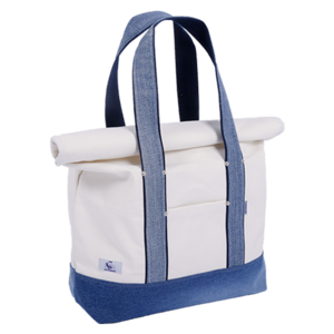 [20%쿠폰] 데님 여행가방 Vintage Denim Travel Bag (White) - EIBAG001