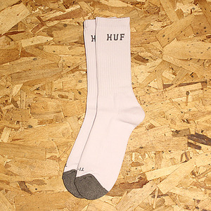 NATIONAL CREW SOCK (WHT/CHARC HEATHER) - HFA17SK008WH